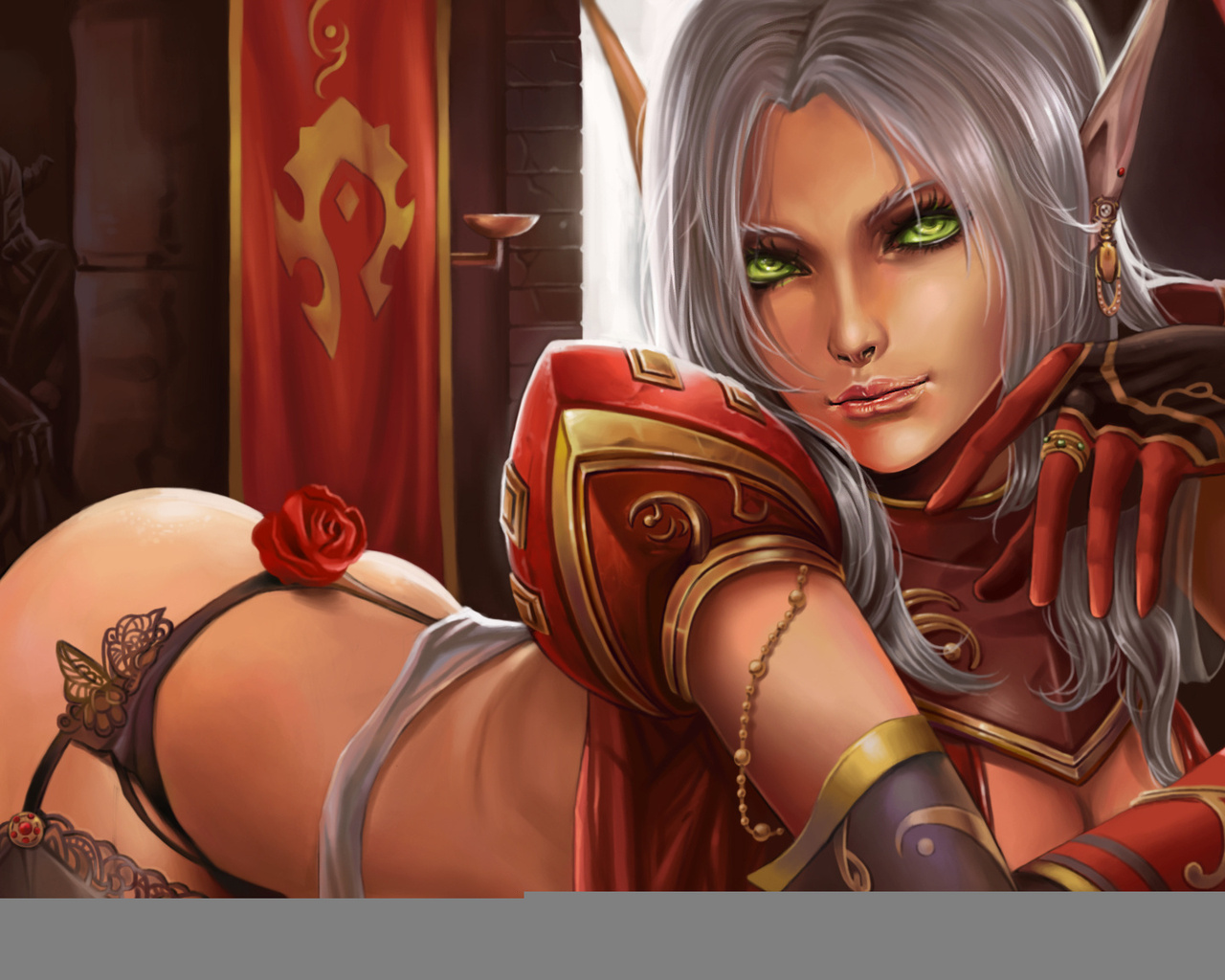 Hot blood elf and night elf female  nackt reality wifes